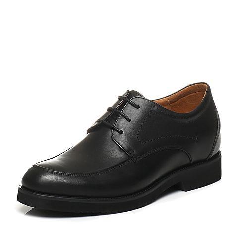Bata/拔佳2016春季专柜同款黑色牛皮男单鞋581-21AM 专柜1