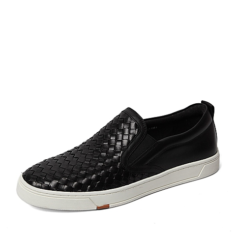 Bata/拔佳2016春季专柜同款黑色牛皮男鞋(超软)82P11AM6 专柜1