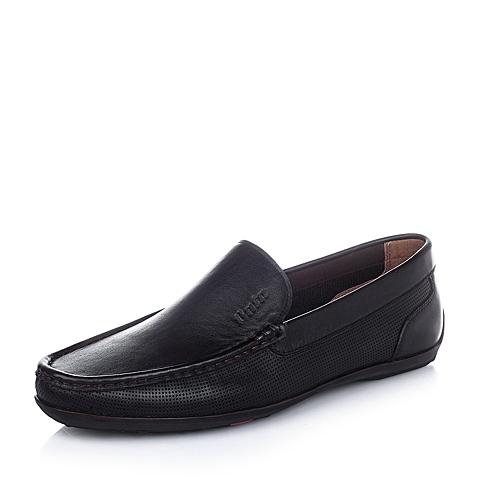 Bata/拔佳2016夏季棕色油皮牛皮柔软舒适男单鞋A9N50BM6