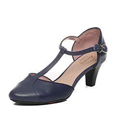 Bata/拔佳春季专柜同款深兰牛皮女凉鞋(超软)AD301AK6