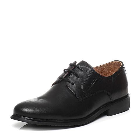 Bata/拔佳2016春季专柜同款黑色水牛皮革男鞋A4Y22AM6 专柜1