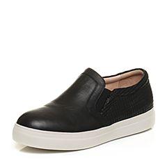 Bata/拔佳秋季专柜同款黑色简约休闲厚底女单鞋17-17CM6