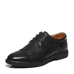 Bata/拔佳春季专柜同款黑色英伦风牛皮男单鞋213-1AM7
