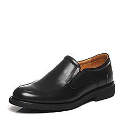 BATA/拔佳2017春季新款专柜同款黑色简约牛皮男正装鞋A10-2AM7