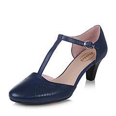 BATA/拔佳2017夏季专柜同款米色玛丽珍羊皮女凉鞋(超软)AD325BK7