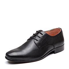 Bata/拔佳2018春新款专柜同款牛皮革系带商务正装男皮鞋83E06AM8