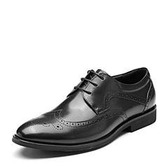 Bata/拔佳2019春新款牛皮革系带英伦雕花休闲商务男皮鞋TSY32AM9