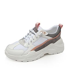 Bata/拔佳2019春新款拼色系带休闲运动女旅游老爹鞋81830AM9