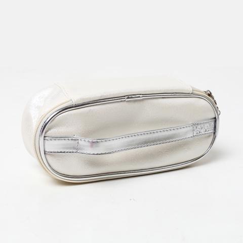 Ist belle/百丽箱包夏季白色PU压纹化妆包FA588BX0
