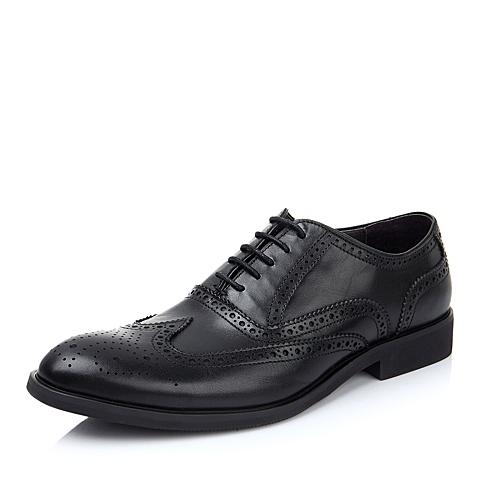 BELLE/百丽男鞋黑色商务正装皮鞋英伦布洛克鞋牛皮男单鞋4288DDM4