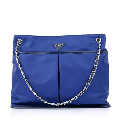 Ist belle/百丽箱包蓝色化纤布单肩手袋C1111AX5
