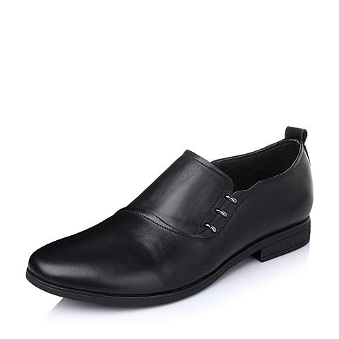 Belle/百丽春季专柜同款黑色牛皮男皮鞋3LL02AM5