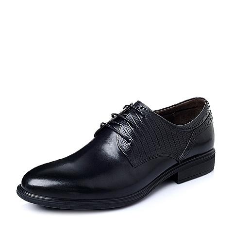 Belle/百丽春季专柜同款黑色牛皮商务儒雅绅士男皮鞋3ND01AM5