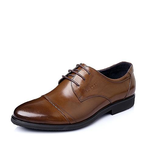 Belle/百丽春季专柜同款棕色牛皮商务绅士男单鞋3NG01AM5
