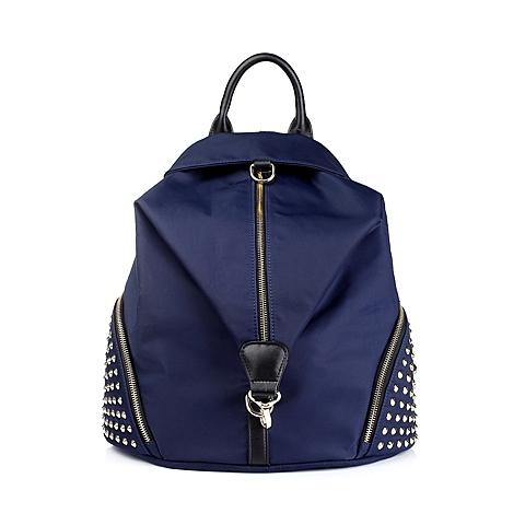 Ist belle/百丽箱包蓝色化纤布手袋708DDCX5
