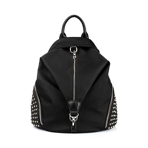 Ist belle/百丽箱包黑色化纤布手袋708DDCX5
