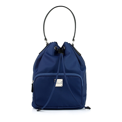 Ist belle/百丽箱包蓝色化纤布手袋0125LCX5