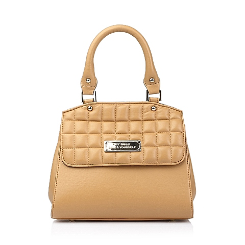 Ist belle/百丽箱包棕色人造革手袋0126LCX5