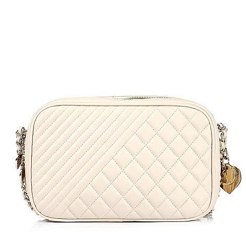 Ist belle/百丽箱包白色细纹人造革女手袋0961ACX5