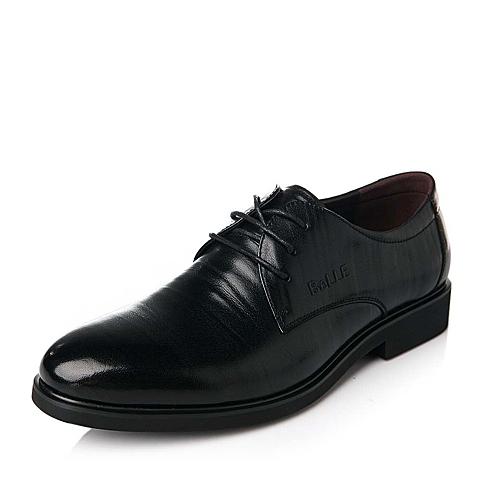 Belle/百丽秋季黑色时尚商务休闲舒适牛皮男单鞋5A871CM5