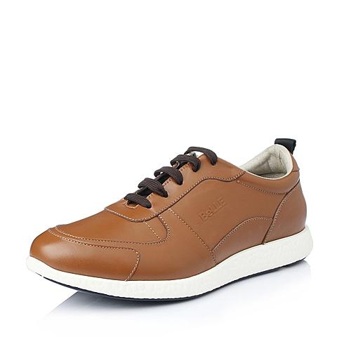 Belle/百丽秋季浅棕色牛皮舒适时尚男单鞋A3981CM5