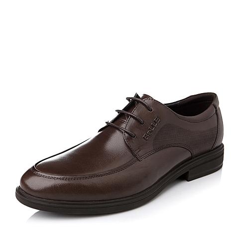 Belle/百丽秋季棕水牛皮男皮鞋86602CM5