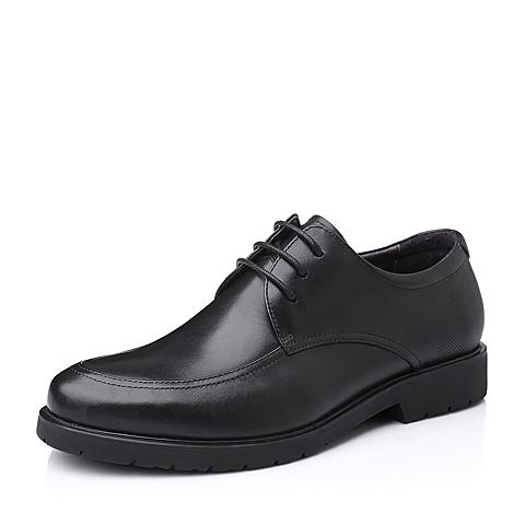 Belle/百丽秋季黑色打蜡牛皮商务正装男单鞋11503CM5