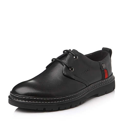 Belle/百丽冬季黑色牛皮男单鞋L6065DM5