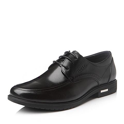 Belle/百丽冬季黑色时尚商务舒适牛皮男单鞋M529QDM5