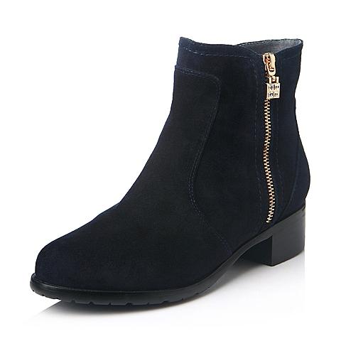BeLLE 百丽 893-6DD5 女款羊绒皮短靴  298元包邮