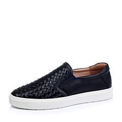 Belle/百丽秋季专柜同款黑色牛皮男单鞋38410CM5