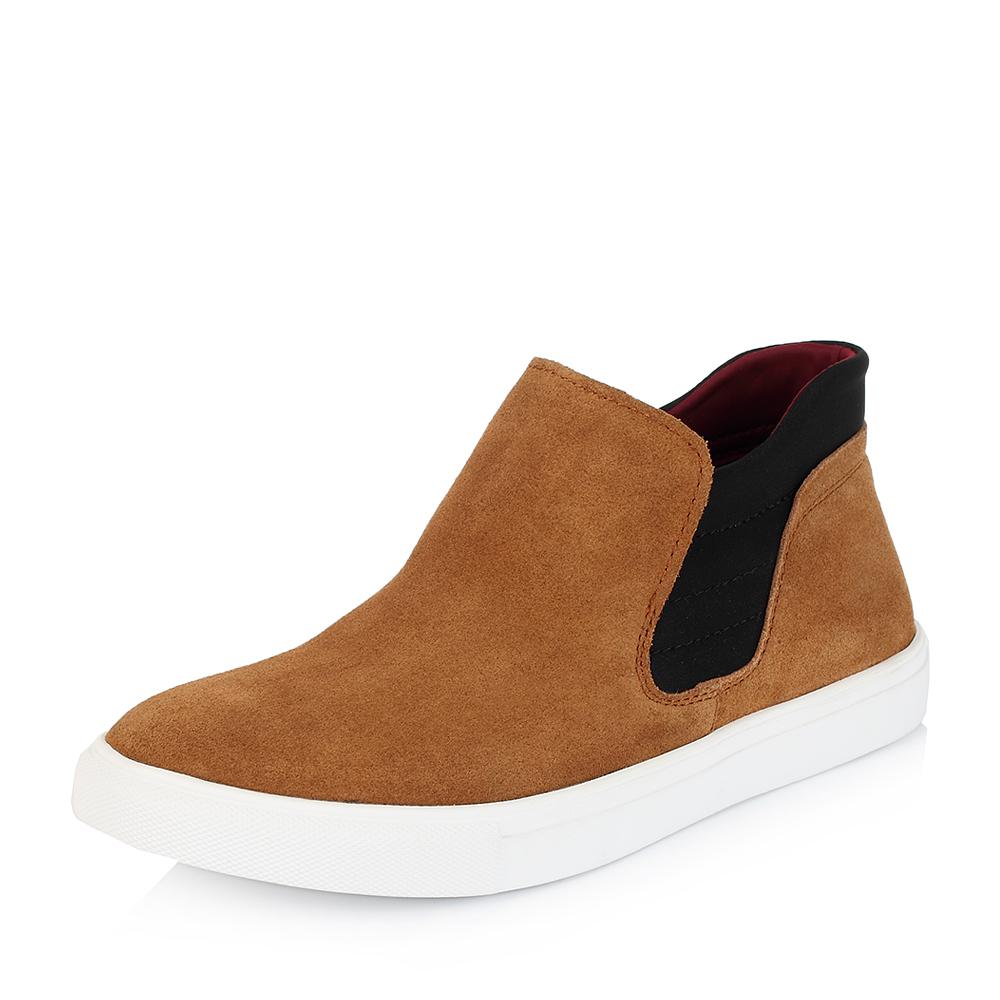 Belle/百丽冬季专柜同款黄色牛剖层皮男休闲靴3XE01DD5