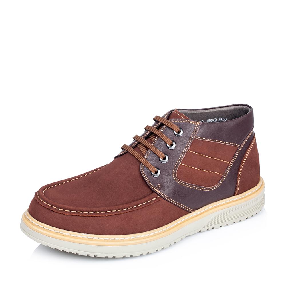 Belle/百丽冬季专柜同款红棕/啡红色打蜡磨砂牛皮男休闲靴37740DD5