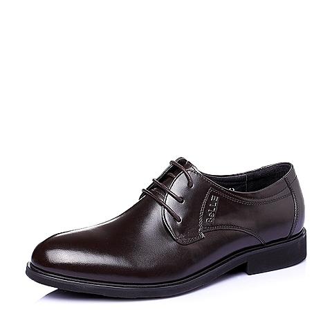 Belle/百丽春季专柜同款棕色牛皮商务正装男单鞋3QK01AM5