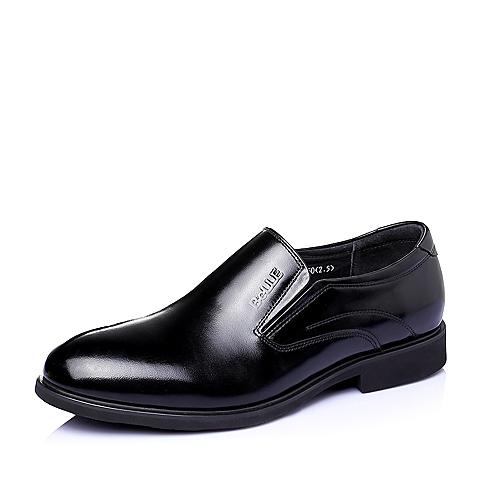 Belle/百丽春季专柜同款黑色牛皮商务正装男单鞋3QK02AM5