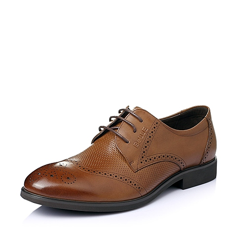 Belle/百丽夏季专柜同款棕色牛皮时尚商务正装儒雅男皮鞋3SD01BM5