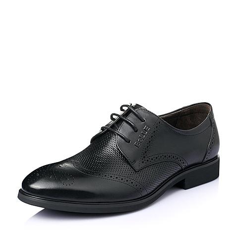 Belle/百丽夏季专柜同款黑色牛皮时尚商务正装儒雅男皮鞋3SD01BM5