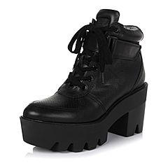 百丽精品bevivo冬专柜同款潮流型格牛皮女短靴MQV43DD5