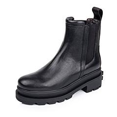 百丽精品bevivo冬专柜同款潮流型格小牛皮女短靴MRF40DD5