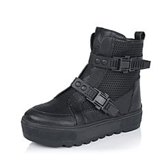 百丽精品bevivo冬专柜同款潮流个性牛皮女中靴MRK61DZ5
