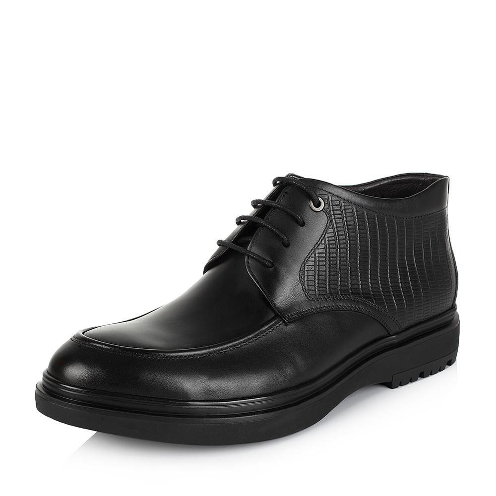 Belle/百丽冬季专柜同款黑色牛皮男靴3ZC01DD5