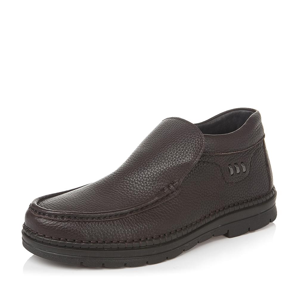 Belle/百丽冬季专柜同款棕色牛皮男休闲靴3XM01DD5
