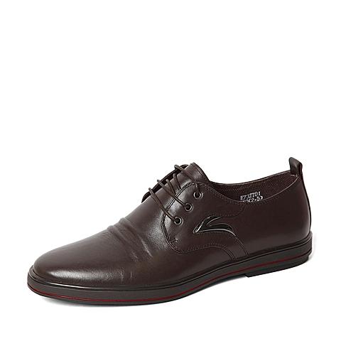 Belle/百丽春季专柜同款棕色牛皮男单鞋3ZT01AM6  专柜1