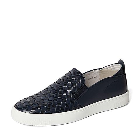 Belle/百丽2016春季专柜同款深兰编织牛皮男单鞋38418AM6 专柜1