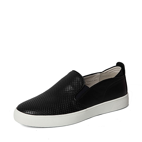 Belle/百丽春季专柜同款黑色牛皮男单鞋(冲孔)38418AM6