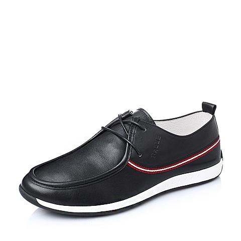 Belle/百丽春季黑色牛皮革男单鞋15471AM6