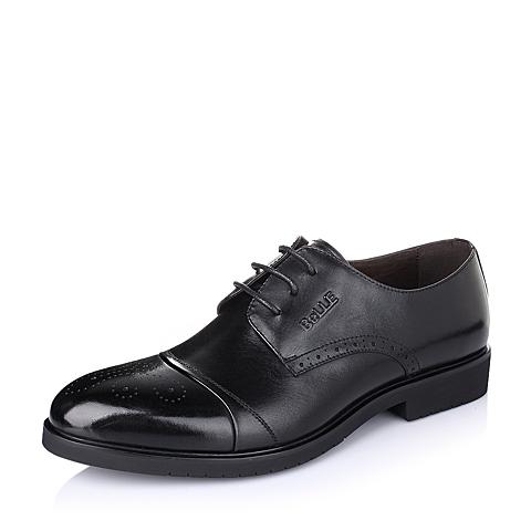 Belle/百丽2016春季黑色牛皮商务时尚男单鞋A9220AM6