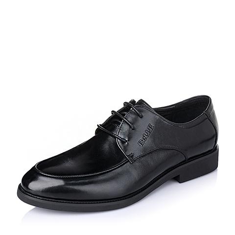 Belle/百丽春季黑色牛皮男皮鞋86605AM6