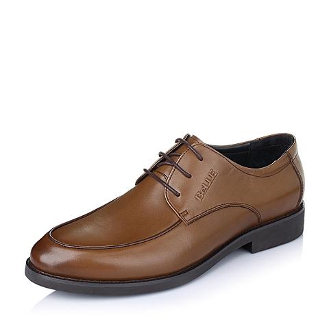 Belle/百丽春季棕色牛皮男皮鞋86605AM6