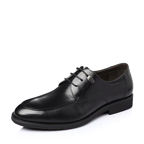 Belle/百丽春季黑色牛皮男鞋F5678AM6